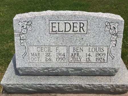ELDER, CECIL F. - Clark County, Missouri | CECIL F. ELDER - Missouri Gravestone Photos