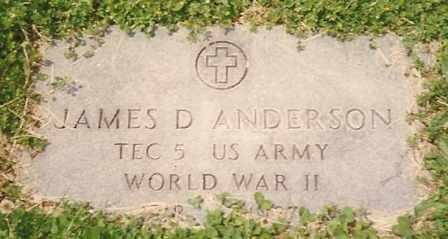 ANDERSON, JAMES DAVID VETERAN WWII - Dade County, Missouri | JAMES DAVID VETERAN WWII ANDERSON - Missouri Gravestone Photos