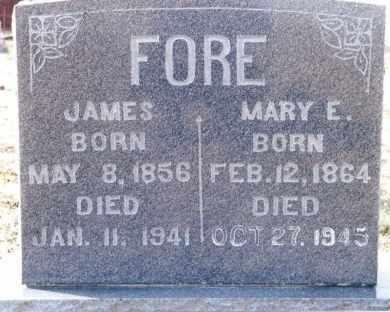 FORE, JAMES - Dent County, Missouri | JAMES FORE - Missouri Gravestone Photos