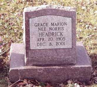 NORRIS HEADRICK, GRACE MARION - Dent County, Missouri | GRACE MARION NORRIS HEADRICK - Missouri Gravestone Photos