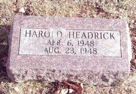 HEADRICK, HAROLD - Dent County, Missouri | HAROLD HEADRICK - Missouri Gravestone Photos