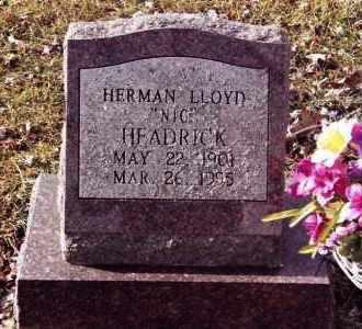 "HEADRICK, HERMAN LLOYD ""NIC"" - Dent County, Missouri   HERMAN LLOYD ""NIC"" HEADRICK - Missouri Gravestone Photos"