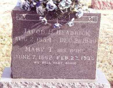 HEADRICK, JACOB BENJAMIN - Dent County, Missouri | JACOB BENJAMIN HEADRICK - Missouri Gravestone Photos