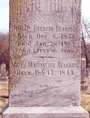 HEADRICK, MARY MAGDALINE - Dent County, Missouri | MARY MAGDALINE HEADRICK - Missouri Gravestone Photos
