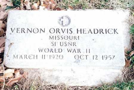 HEADRICK (VETERAN WWII), VERNON ORVIS - Dent County, Missouri | VERNON ORVIS HEADRICK (VETERAN WWII) - Missouri Gravestone Photos