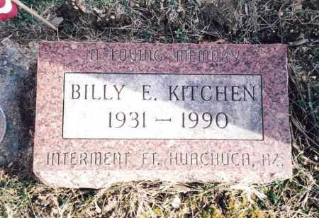 KITCHEN, BILLY E. - Dent County, Missouri | BILLY E. KITCHEN - Missouri Gravestone Photos
