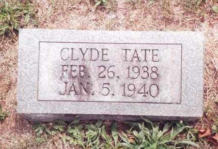 TATE, CLYDE - Dent County, Missouri | CLYDE TATE - Missouri Gravestone Photos