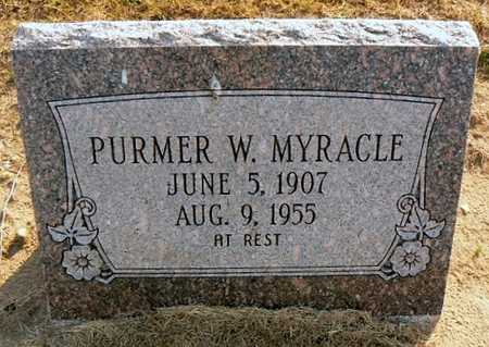 MYRACLE, PURMER W - Dunklin County, Missouri   PURMER W MYRACLE - Missouri Gravestone Photos