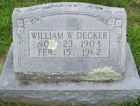 DECKER, WILLIAM W. - Franklin County, Missouri | WILLIAM W. DECKER - Missouri Gravestone Photos