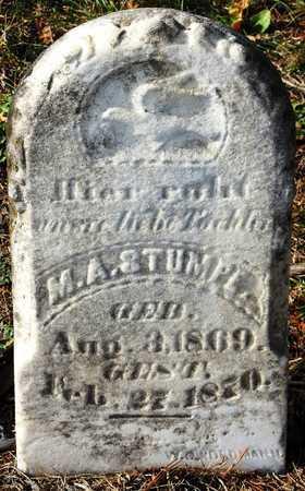 STUMPE, M.A. - Franklin County, Missouri   M.A. STUMPE - Missouri Gravestone Photos