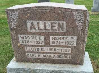 FUNK ALLEN, MAGGIE ELLEN - Gentry County, Missouri   MAGGIE ELLEN FUNK ALLEN - Missouri Gravestone Photos