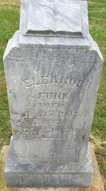FUNK, ELEANOR - Gentry County, Missouri   ELEANOR FUNK - Missouri Gravestone Photos