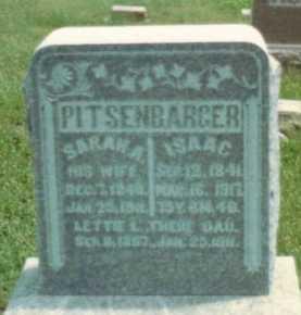 PITSENBARGER, SARAH ANN - Gentry County, Missouri | SARAH ANN PITSENBARGER - Missouri Gravestone Photos