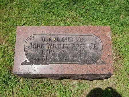 ABEL, JOHN WESLEY JR - Greene County, Missouri | JOHN WESLEY JR ABEL - Missouri Gravestone Photos