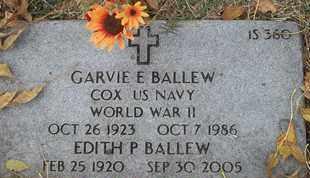 BALLEW, GARVIE E - Greene County, Missouri   GARVIE E BALLEW - Missouri Gravestone Photos