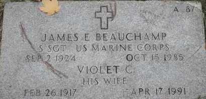 BEAUCHAMP, VIOLET C - Greene County, Missouri | VIOLET C BEAUCHAMP - Missouri Gravestone Photos