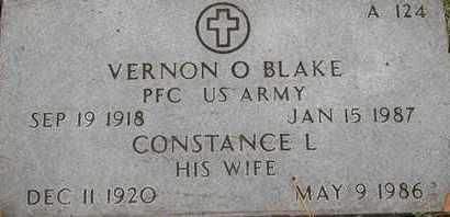 BLAKE, VERNON O - Greene County, Missouri | VERNON O BLAKE - Missouri Gravestone Photos