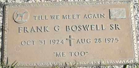 BOSWELL, SR, FRANK G - Greene County, Missouri | FRANK G BOSWELL, SR - Missouri Gravestone Photos
