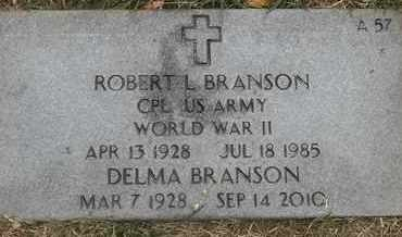 BRANSON, ROBERT L - Greene County, Missouri | ROBERT L BRANSON - Missouri Gravestone Photos