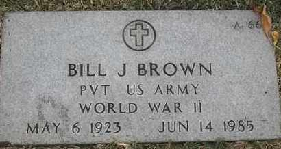 BROWN, BILL J - Greene County, Missouri | BILL J BROWN - Missouri Gravestone Photos