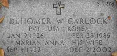 CARLOCK, MARIAN ANNA - Greene County, Missouri | MARIAN ANNA CARLOCK - Missouri Gravestone Photos
