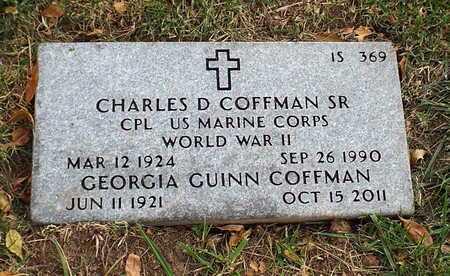 COFFMAN, CHARLES D SR  VETERAN 2 WARS - Greene County, Missouri | CHARLES D SR  VETERAN 2 WARS COFFMAN - Missouri Gravestone Photos