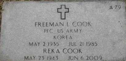 COOK, REKA - Greene County, Missouri | REKA COOK - Missouri Gravestone Photos
