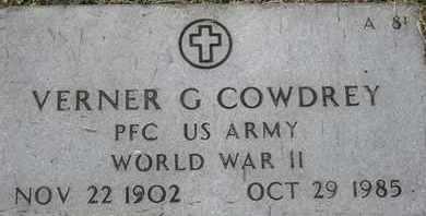 COWDREY, VERNER G - Greene County, Missouri | VERNER G COWDREY - Missouri Gravestone Photos