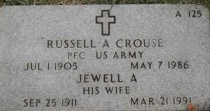 CROUSE, RUSSELL A - Greene County, Missouri | RUSSELL A CROUSE - Missouri Gravestone Photos