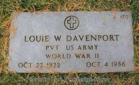 DAVENPORT, LOUIE W  VETERAN WWII - Greene County, Missouri | LOUIE W  VETERAN WWII DAVENPORT - Missouri Gravestone Photos