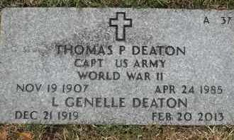 DEATON, THOMAS P - Greene County, Missouri   THOMAS P DEATON - Missouri Gravestone Photos