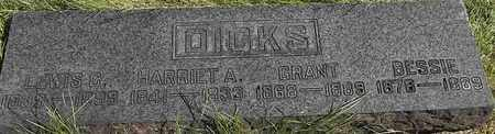 DICKS, HARRIET A - Greene County, Missouri | HARRIET A DICKS - Missouri Gravestone Photos