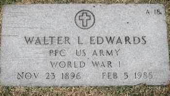 EDWARDS, WALTER L - Greene County, Missouri | WALTER L EDWARDS - Missouri Gravestone Photos