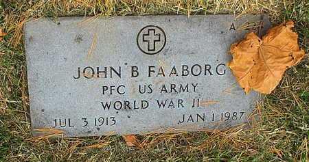 FAABORG, JOHN B  VETERAN WWII - Greene County, Missouri | JOHN B  VETERAN WWII FAABORG - Missouri Gravestone Photos