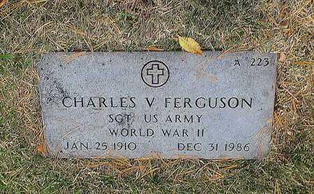 FERGUSON, CHARLES V  VETERAN WWII - Greene County, Missouri | CHARLES V  VETERAN WWII FERGUSON - Missouri Gravestone Photos