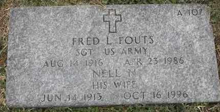 FOUTS, NELL N - Greene County, Missouri | NELL N FOUTS - Missouri Gravestone Photos