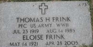 FRINK, THOMAS H - Greene County, Missouri   THOMAS H FRINK - Missouri Gravestone Photos