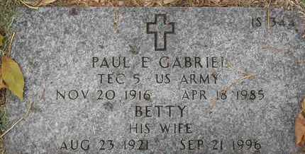 GABRIEL, PAUL E - Greene County, Missouri | PAUL E GABRIEL - Missouri Gravestone Photos