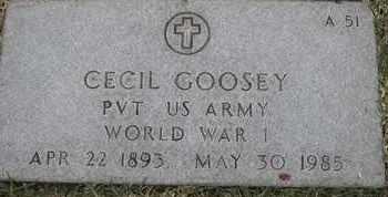 GOOSEY, CECIL - Greene County, Missouri | CECIL GOOSEY - Missouri Gravestone Photos