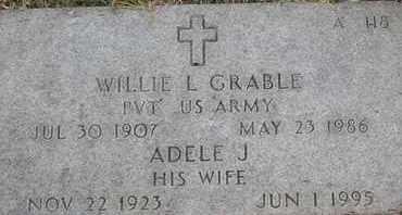 GRABLE, WILLIE L - Greene County, Missouri   WILLIE L GRABLE - Missouri Gravestone Photos
