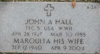 HALL, JOHN A - Greene County, Missouri | JOHN A HALL - Missouri Gravestone Photos