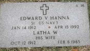 HANNA, LATHA W - Greene County, Missouri | LATHA W HANNA - Missouri Gravestone Photos