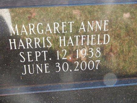 HATFIELD, MARGARET ANNE (CLOSE-UP) - Greene County, Missouri | MARGARET ANNE (CLOSE-UP) HATFIELD - Missouri Gravestone Photos