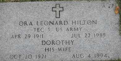 HILTON, ORA LEONARD - Greene County, Missouri | ORA LEONARD HILTON - Missouri Gravestone Photos