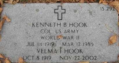 HOOK, VELMA I - Greene County, Missouri | VELMA I HOOK - Missouri Gravestone Photos