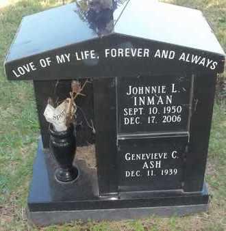 INMAN, JOHNNIE L - Greene County, Missouri | JOHNNIE L INMAN - Missouri Gravestone Photos