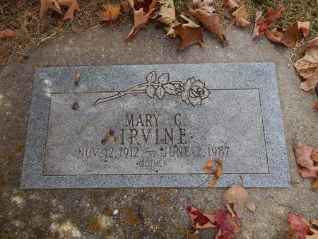 IRVINE, MARY C - Greene County, Missouri | MARY C IRVINE - Missouri Gravestone Photos