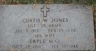 JONES, CURTIS W - Greene County, Missouri | CURTIS W JONES - Missouri Gravestone Photos