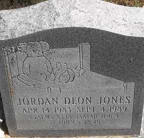 JONES, JORDAN DEON - Greene County, Missouri | JORDAN DEON JONES - Missouri Gravestone Photos