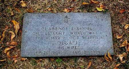 KOLZE, CLARENCE E  VETERAN WWI - Greene County, Missouri | CLARENCE E  VETERAN WWI KOLZE - Missouri Gravestone Photos